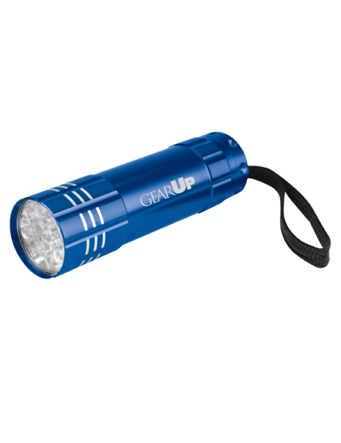 Renegade Aluminum Flashlight – 2013 discount pricing with one color imprint $2.49 / 200 unit minimum. Can be run with any TRiO or program artwork. Stock colors: Black, Blue, Green, Orange, Red, Silver, Pink, Purple, Teal, Carolina Blue.