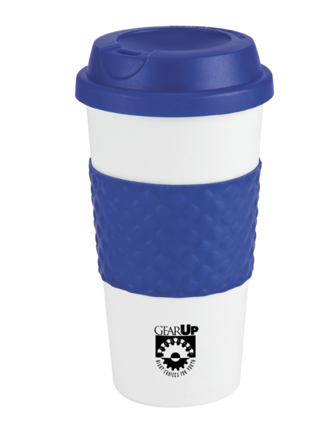 Wake-Up Classic Coffee Cup – 2013 discount pricing with one color imprint $3.29 / 150 unit minimum. Can be run with any TRiO or program artwork. Stock colors: Blue, Green, Orange, Red, Brown, Black, Pink, Navy, Teal, Carolina Blue.