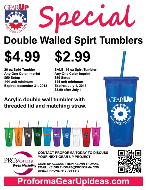 Acrylic double wall tumbler with threaded lid and matching straw.