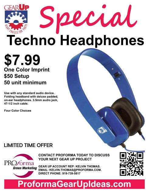 Use with any standard audio device. Folding headband with deluxe padded, on-ear headphones. 3.5mm audio jack, 47-1/2 inch cable.