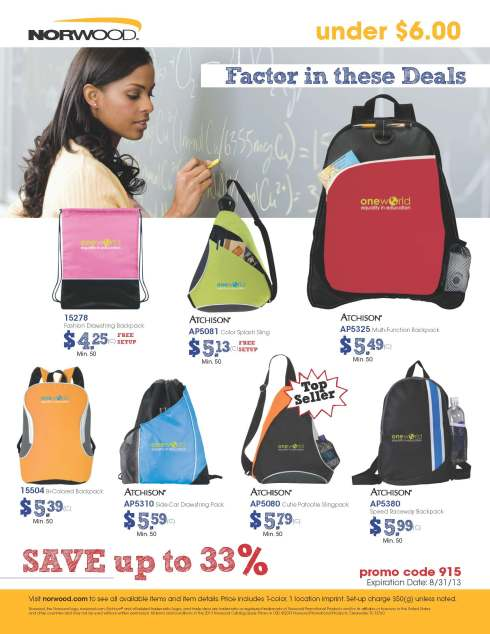 Norwood Back to School Under $6.