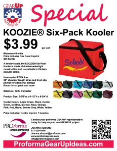 A kooler staple, the KOOZIE® Six-Pack Kooler is made of durable watertight construction and is available in thirteen popular colors.