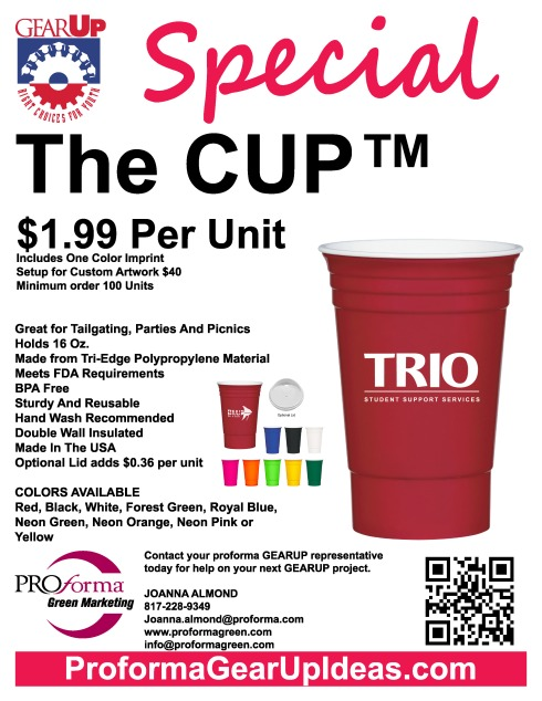 The CUP flyer. As us to send samples.