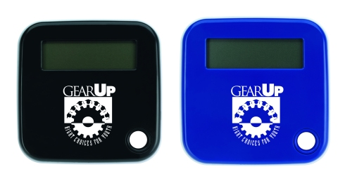 "GEARUP Slider Calculator layout boasting  2-1/8""w x 1-1/4""h imprint area."