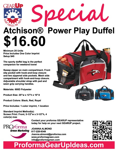 Power Play Duffel Flyer
