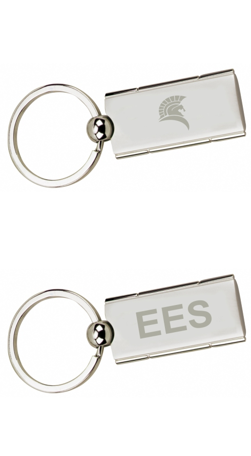 The stylish Satin Rectangle Swivel Keyholder adds class to your laser engraved imprint.