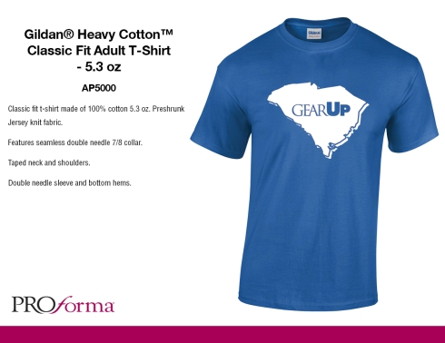 One color imprint. One location. 100% cotton tees. $3.85 S- XL.
